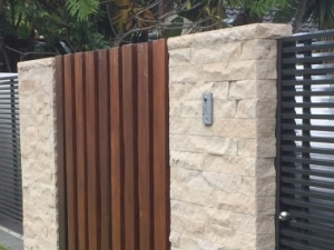 Decorative block and timber walls Gold Coast