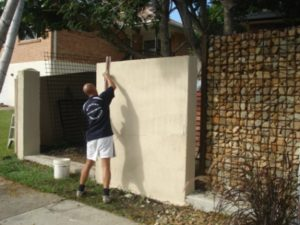 Rendering brickwork at Palm Beach Gold Coast Queensland Australia