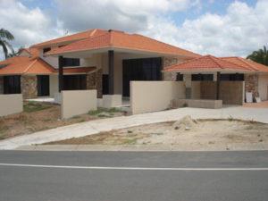Brick house and retaining walls Gold Coast